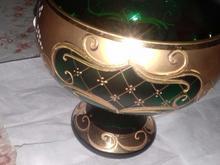 ظرف کریستال طلا کاری شده تقریبا سه گرم طلا کارشد در شیپور-عکس کوچک