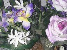 سبد گل بسیار زیبا و شیک  قابل شستشو با گل هاخارجی در شیپور-عکس کوچک