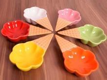 بستنی خوری 6 عددی جدید به شکل قیف در شیپور-عکس کوچک