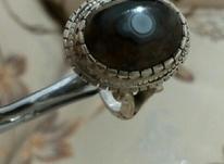هشت انگشتر نقره باسنگهای معدنی در شیپور-عکس کوچک