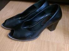 کفش چرم مشکی  زنانه در شیپور-عکس کوچک