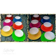 فنجان نعلبکی رنگی در شیپور-عکس کوچک