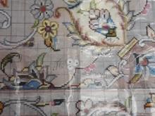 دار قالی چله کشی شده همراه با نخ و نقشه در شیپور-عکس کوچک