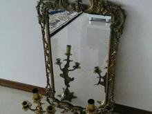 آینه و شمعدان برنزی در شیپور-عکس کوچک