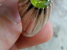 چهارتا انگشتر نقره زبرجد وتوپاز معدنی در شیپور-عکس کوچک