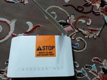مودم. Adisl دیلینگ.  در شیپور-عکس کوچک