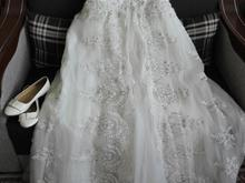 فروش لباس عروس تمام دانتل همراه با کفش در شیپور-عکس کوچک