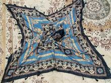 روسری سرمه ای طلاکوب در شیپور-عکس کوچک