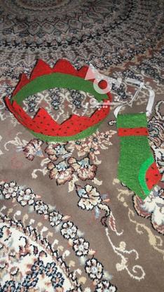یک دست لباس هندونه با تاج و کرباتش در گروه خرید و فروش لوازم شخصی در تهران در شیپور-عکس1