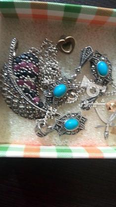 سرویس نقره گردنبند گوشواره گردنی در گروه خرید و فروش لوازم شخصی در تهران در شیپور-عکس1