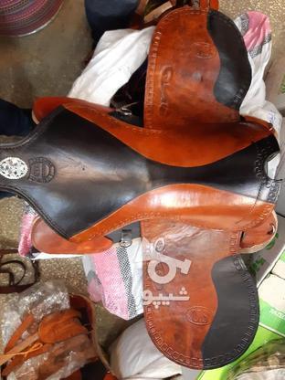 زین اسب چرم اعلا(تخفیف) در گروه خرید و فروش ورزش فرهنگ فراغت در کرمان در شیپور-عکس1