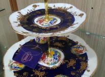 ظرف ظروف شیرینی خوری دوطبقه وشمعدان سورمه ای در شیپور-عکس کوچک