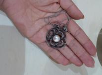 انگشتر و گردنبند نقره سیاه قلم  در شیپور-عکس کوچک