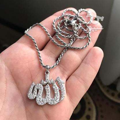 گردنبند نقره پلاک نقره در گروه خرید و فروش لوازم شخصی در تهران در شیپور-عکس1