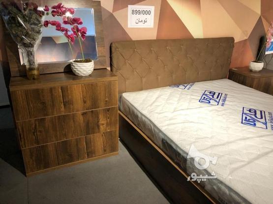 تخت دونفره و سرویس خواب مدل هد چستر قهوه ایی در گروه خرید و فروش لوازم خانگی در تهران در شیپور-عکس1