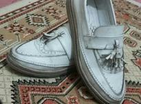 کفش کالج چرم سفید سالم در شیپور-عکس کوچک