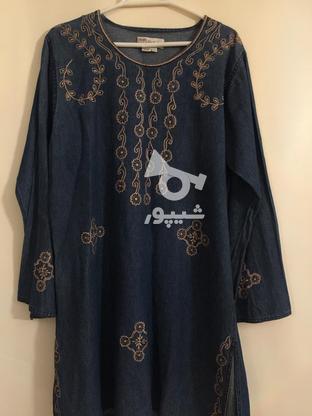 مانتو جین سایز L در گروه خرید و فروش لوازم شخصی در تهران در شیپور-عکس1