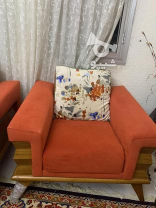 مبل نارنجي كرم در گروه خرید و فروش لوازم خانگی در تهران در شیپور-عکس1