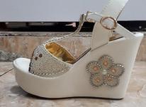 یک جفت کفش مجلسی در حد نو رنگ: کرمی سایز : ۳۸ در شیپور-عکس کوچک
