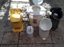 پنج عدد سطل دب داردر اندازه های مختلف جمعا در شیپور-عکس کوچک