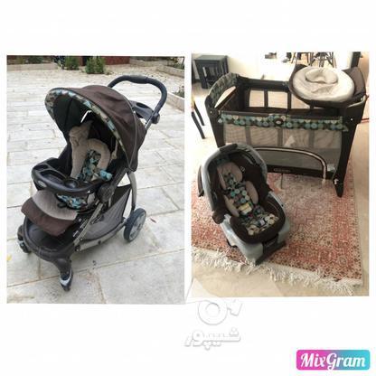 تخت،کریر،کالسکه نوزاد در گروه خرید و فروش لوازم شخصی در تهران در شیپور-عکس1