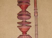 قلیان قدیمی -چوب سرخدار در شیپور-عکس کوچک