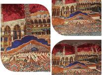 قاليچه مخمل شامي قديمي طرح دارسالم وتميز در شیپور-عکس کوچک