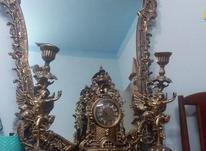 آینه کنسول همراه با ساعت و شمعدان در شیپور-عکس کوچک