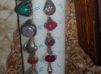 انگشتر های قدیمی زیبا یاقوت فیروزه زمرد عقیق در شیپور-عکس کوچک