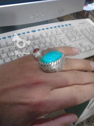 انگشتر فیروزه مغز در گروه خرید و فروش لوازم شخصی در خراسان رضوی در شیپور-عکس1
