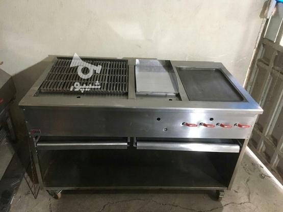 گریل سه کاره همبرگری آماده در حد نو در گروه خرید و فروش صنعتی، اداری و تجاری در تهران در شیپور-عکس1