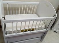 تخت گهواره ای وتشک کودک کاملا نو  در شیپور-عکس کوچک