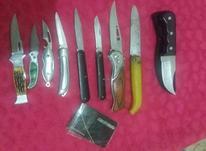 یازده عدد چاقو قدیمی و جدید در شیپور-عکس کوچک