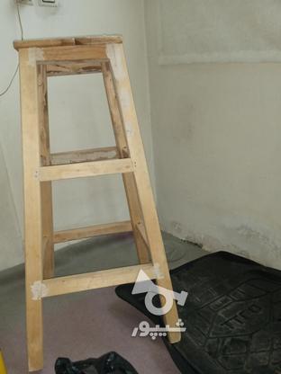 چهار پایه چوبی محکم  در گروه خرید و فروش لوازم خانگی در قزوین در شیپور-عکس1
