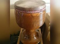 تنبک تک مهر شیرانی خوش صدا دهانه 27 (بزرگ) چوب کاج پوست  در شیپور-عکس کوچک