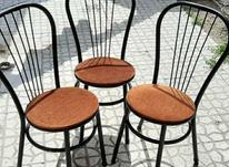 سه عدد صندلی تمام فلز  در شیپور-عکس کوچک