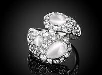 انگشتر طلا سفید باشکوه  در شیپور-عکس کوچک