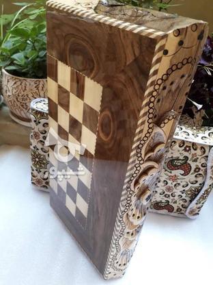 شطرنج چوب طرح منبت  در گروه خرید و فروش ورزش فرهنگ فراغت در مازندران در شیپور-عکس1