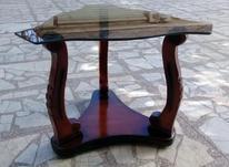 میز عسلی چوبی با روکش شیشه تک شیک در شیپور-عکس کوچک