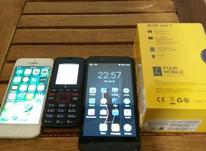 4 گوشی موبایل دو گوشی ساده و آیفون 5 ۶۴ گیگ  لینوو همه سالم  در شیپور-عکس کوچک