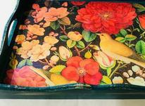 سینی چوبی طرح گل و مرغ  در شیپور-عکس کوچک
