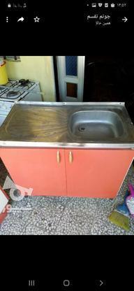 کابینت با سینک ظرفشویی یک لگنه سالم  در گروه خرید و فروش لوازم خانگی در گیلان در شیپور-عکس1