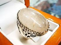 انگشتر درشت دُر مویی طلایی در شیپور-عکس کوچک