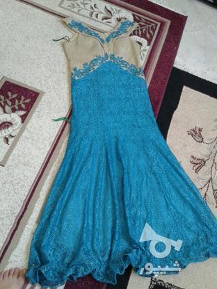 لباس ابی فیروزه ای مجلسی 38تا42 در گروه خرید و فروش لوازم شخصی در البرز در شیپور-عکس1