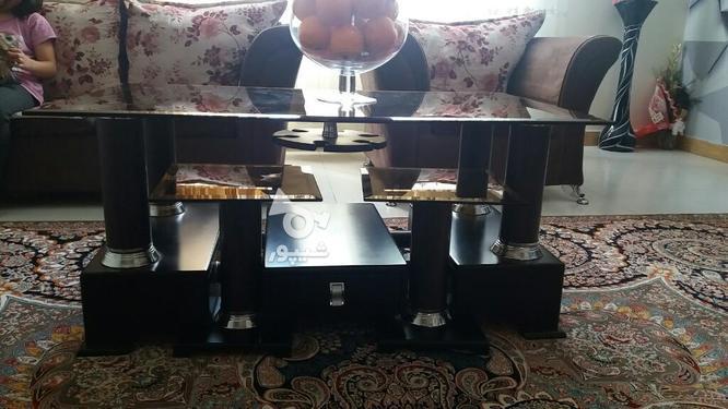 میز وسط همراه با چهار میز عسلی در گروه خرید و فروش لوازم خانگی در البرز در شیپور-عکس1