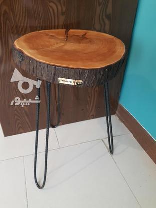 میز عسلی چوبی (تنه درخت) در گروه خرید و فروش لوازم خانگی در مازندران در شیپور-عکس1