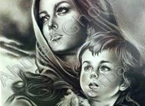 نقاشی از روی عکس، سیاه قلم و رنگ روغن در شیپور-عکس کوچک