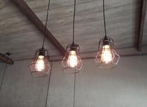 لوستر فانتیزی با لامپ  در شیپور-عکس کوچک