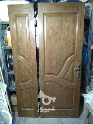 درب چوبی دو لنگه در گروه خرید و فروش لوازم خانگی در تهران در شیپور-عکس1