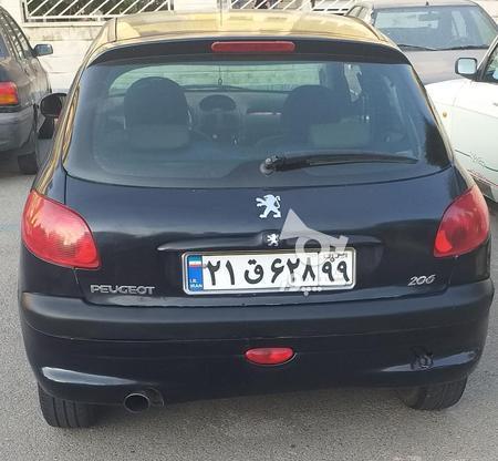 206 82 مشکی  دوررنگ در گروه خرید و فروش وسایل نقلیه در تهران در شیپور-عکس1
